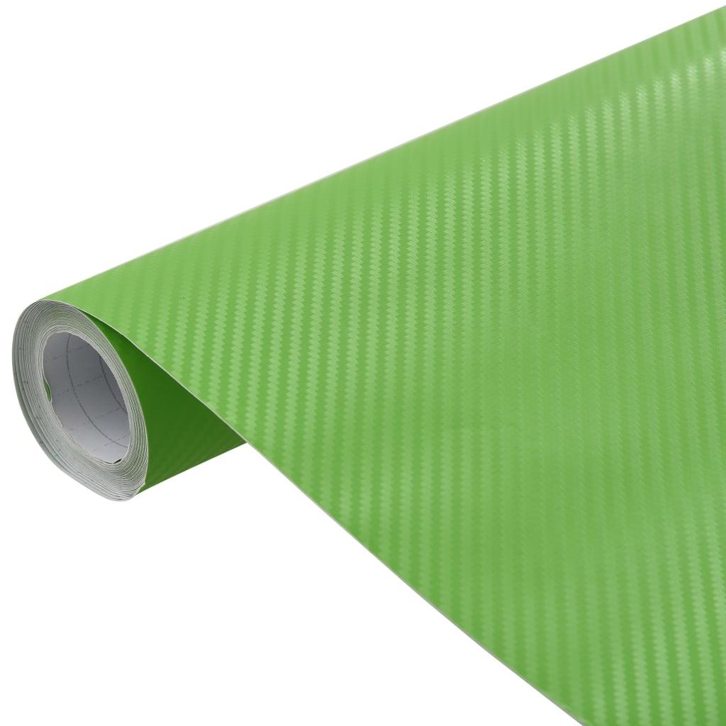 vidaXL Folie auto 3D, verde, 500 x 152 cm poza 2021 vidaXL