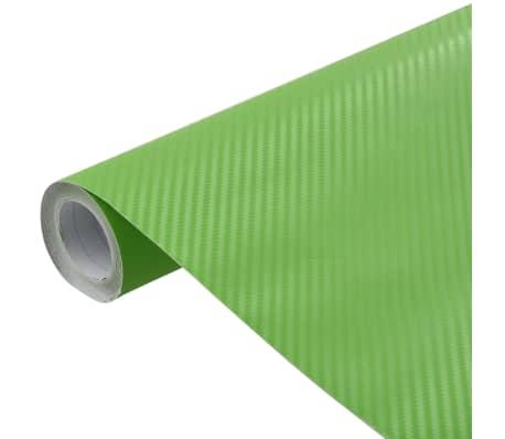 vidaXL Bilfolie matt 3D grønn 500x152 cm