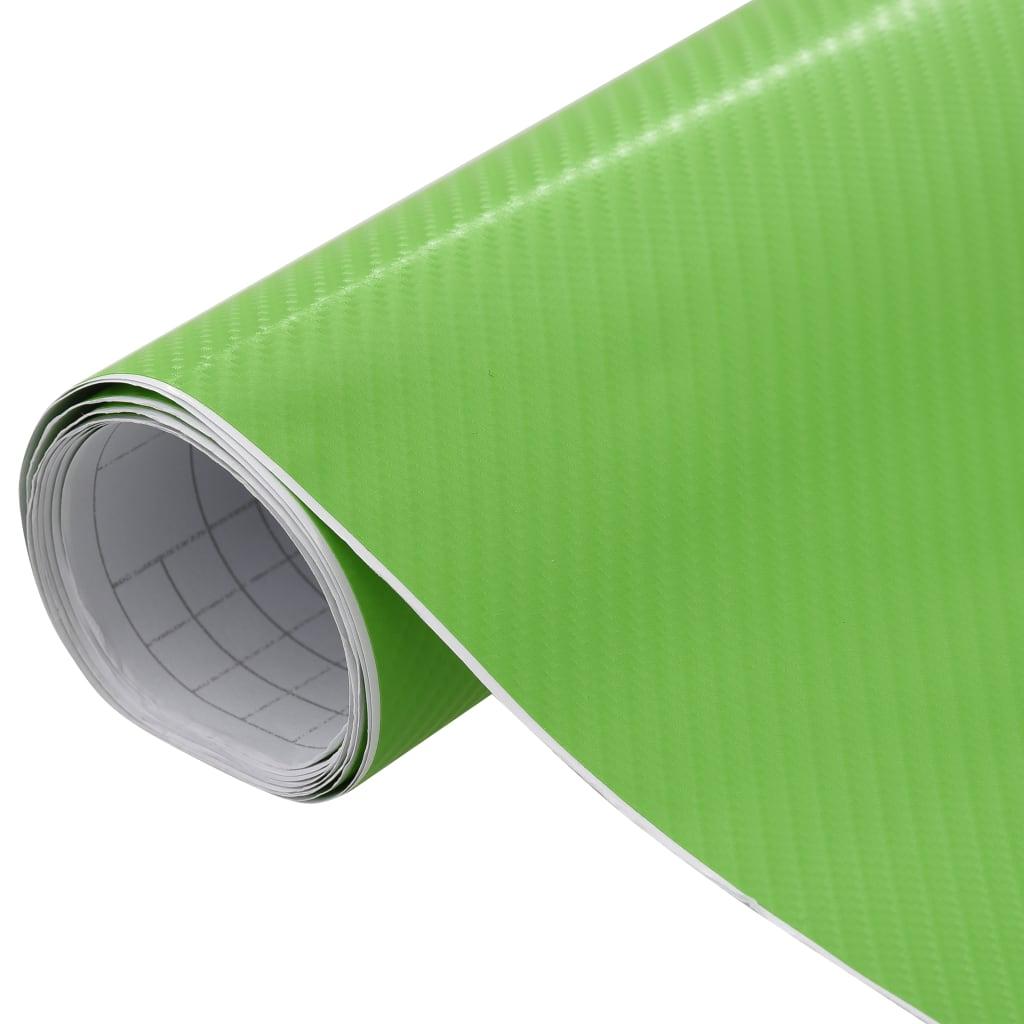 vidaXL Folie auto 4D verde 500 x 152 cm poza 2021 vidaXL