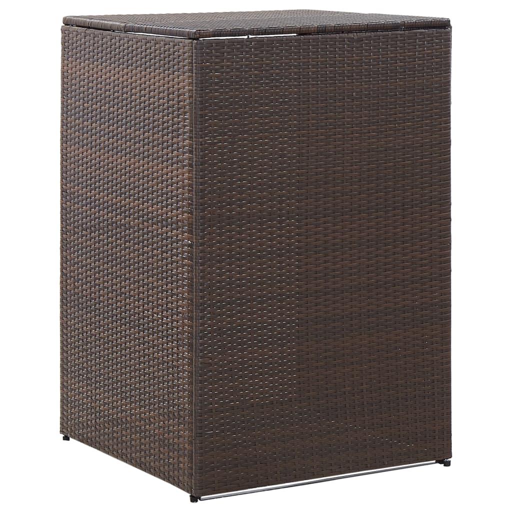 Přístřešek na popelnici hnědý 76 x 78 x 120 cm polyratan