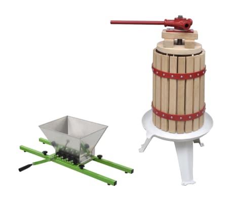 vidaXL Ensemble de 2 pcs presse-agrumes et presse à fruits