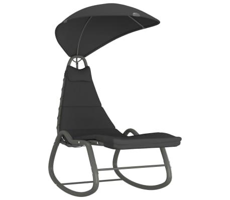vidaXL Garden Rocking Chair 160x80x195 cm Fabric Black