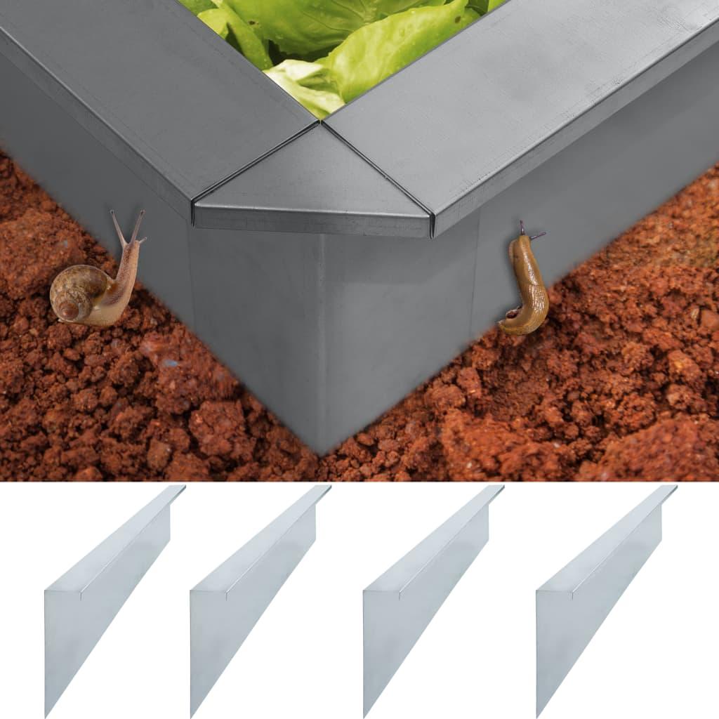 vidaXL Plăci gard anti-melci 4 buc. oțel galvanizat 50x7x25 cm 0,7 mm imagine vidaxl.ro
