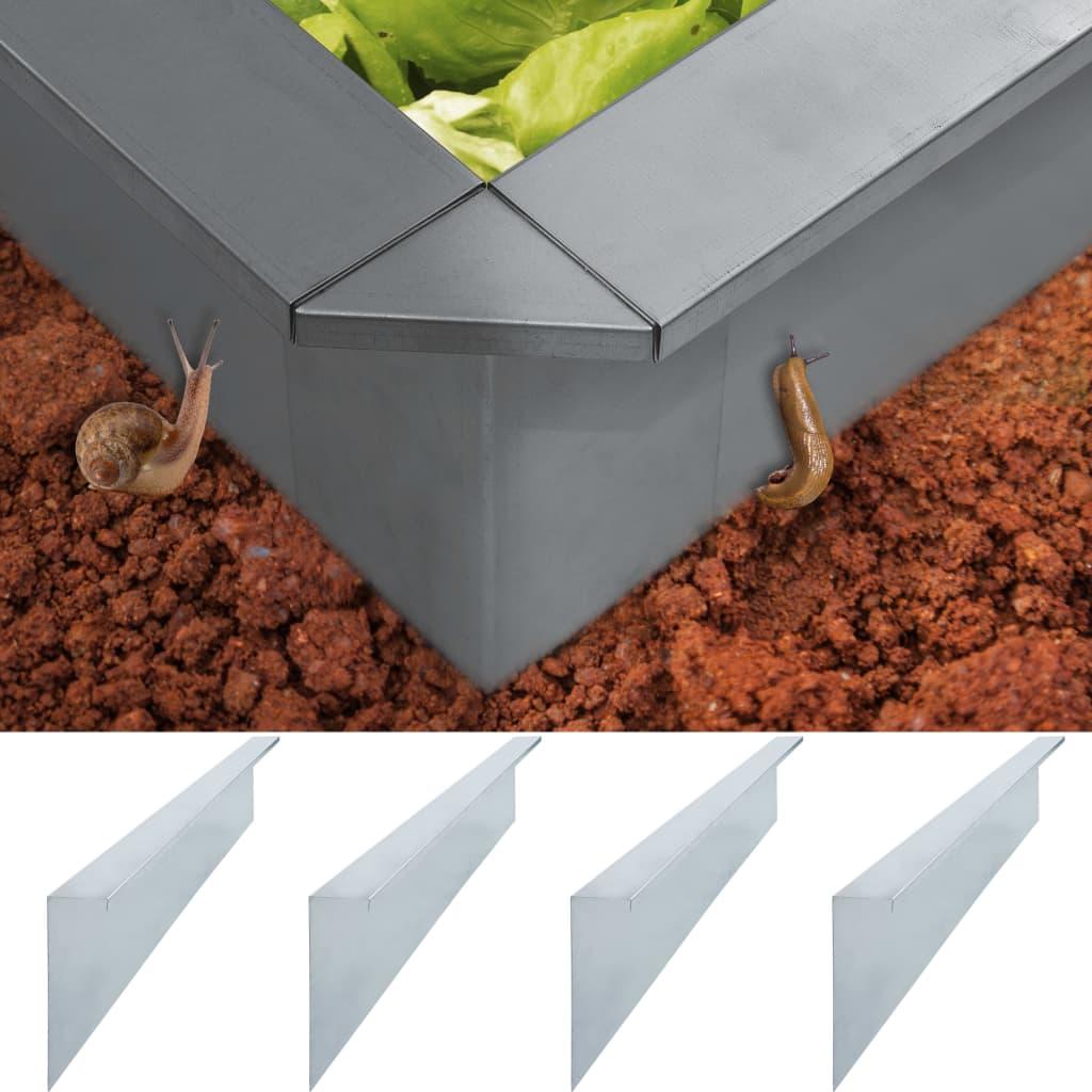 Zábrany proti slimákům 4 ks pozinkovaná ocel 100x7x25 cm 0,7 mm