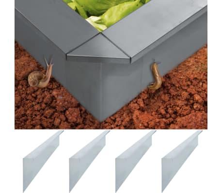 vidaXL Plokštės tvorai nuo sraigių, 4vnt., 100x7x25cm, plienas, 0,7mm
