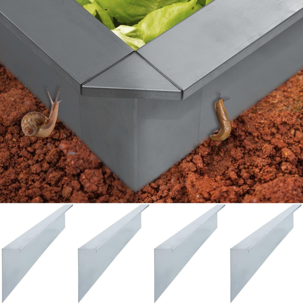 Zábrany proti slimákům 4 ks pozinkovaná ocel 150x7x25 cm 0,7 mm