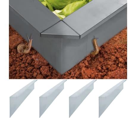 vidaXL Vallas para caracoles 4 uds acero galvanizado 150x7x25cm 0,7mm