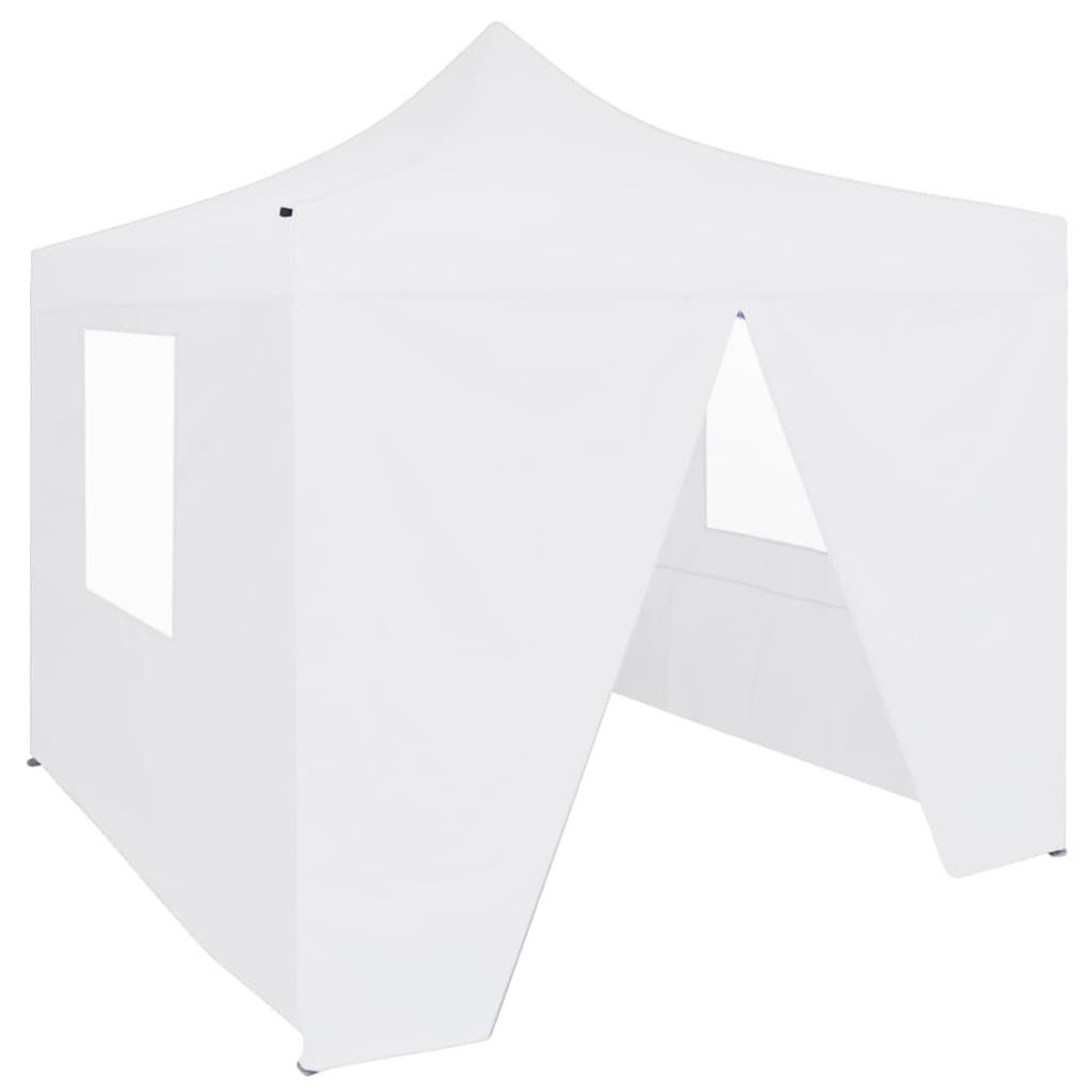 vidaXL Cort de petrecere pliabil cu 4 pereți, alb, 3 x 3 m, oțel poza vidaxl.ro