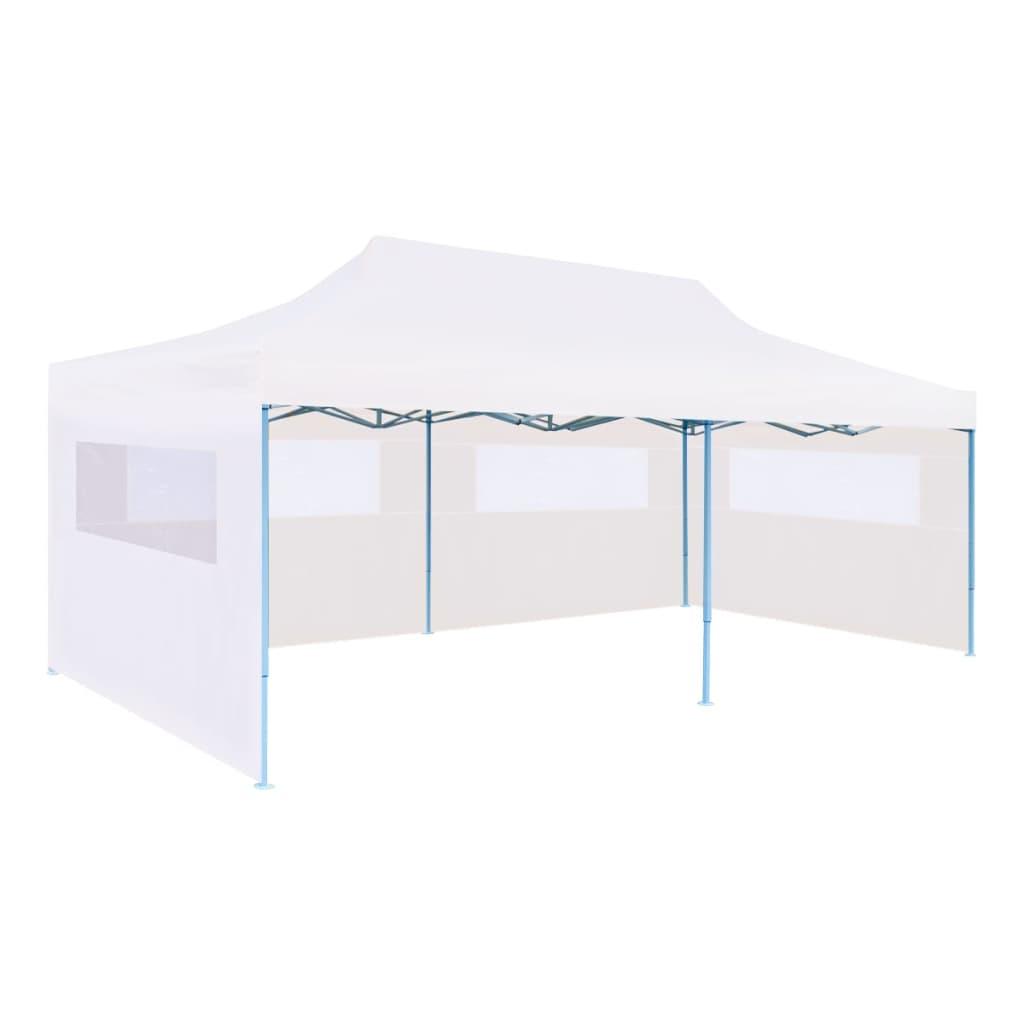 vidaXL Cort petrecere pliabil cu pereți laterali, alb, oțel, 3 x 6 m vidaxl.ro