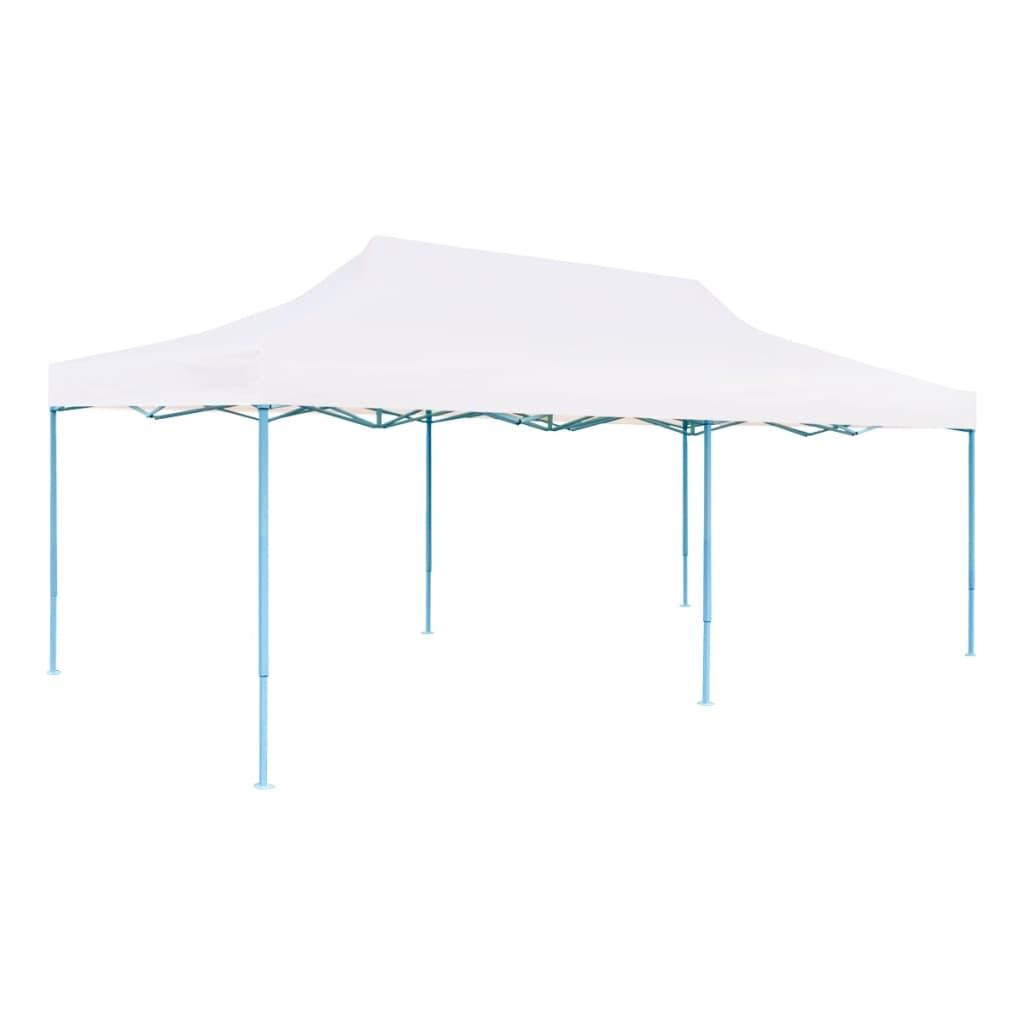 vidaXL Partytent pop-up met zijwanden 3x6 m staal wit