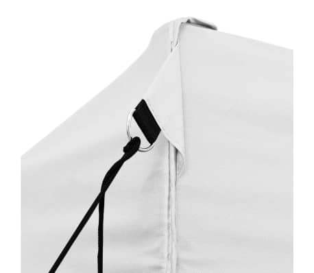 vidaXL Gazebo Professionale Pieghevole 3x6 m Acciaio Bianco