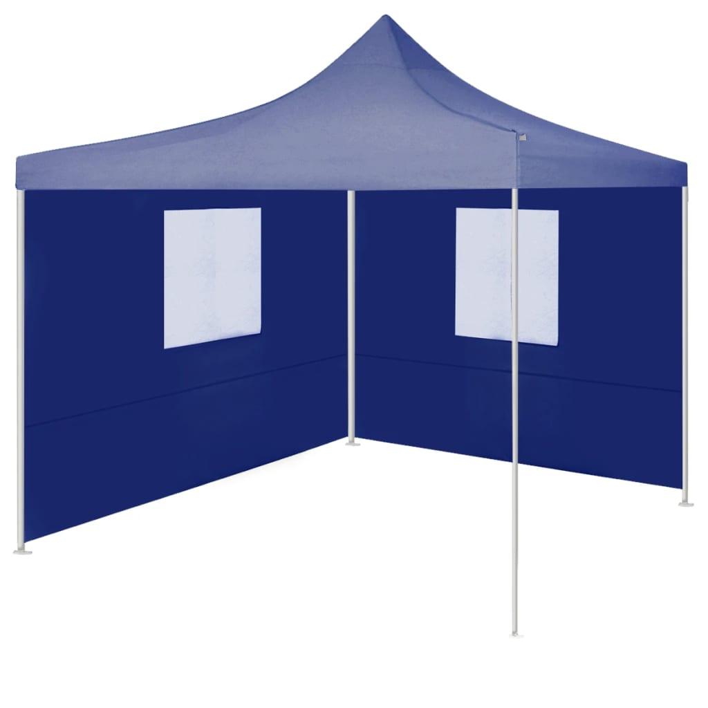 vidaXL Cort de petrecere pliabil cu 2 pereți, albastru, 2 x 2 m, oțel poza vidaxl.ro