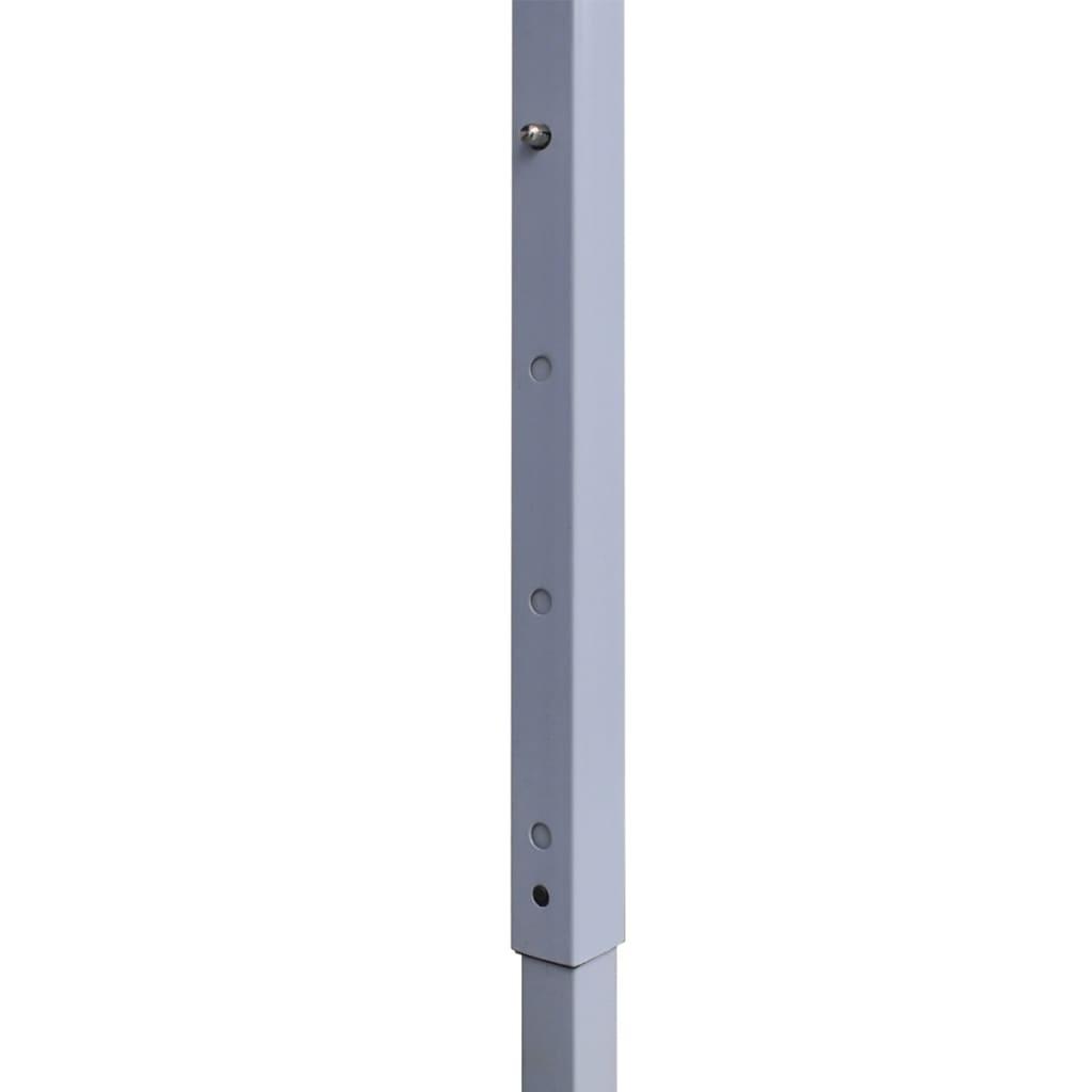 Partytent met 2 zijwanden inklapbaar 2x2 m staal crème