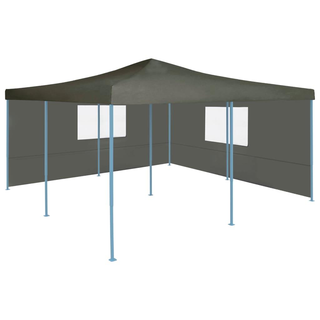vidaXL Pavilion pliabil cu 2 pereți laterali, antracit, 5 x 5 m poza 2021 vidaXL