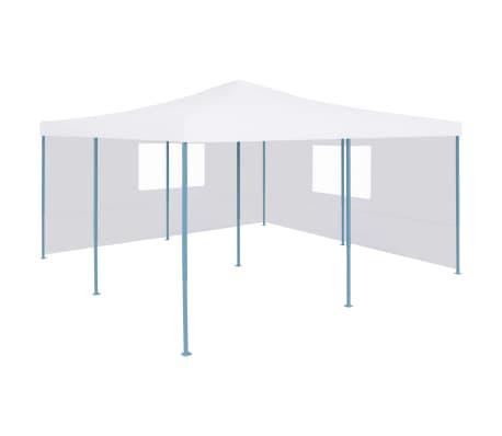 vidaXL Prieel inklapbaar met 2 zijwanden 5x5 m wit