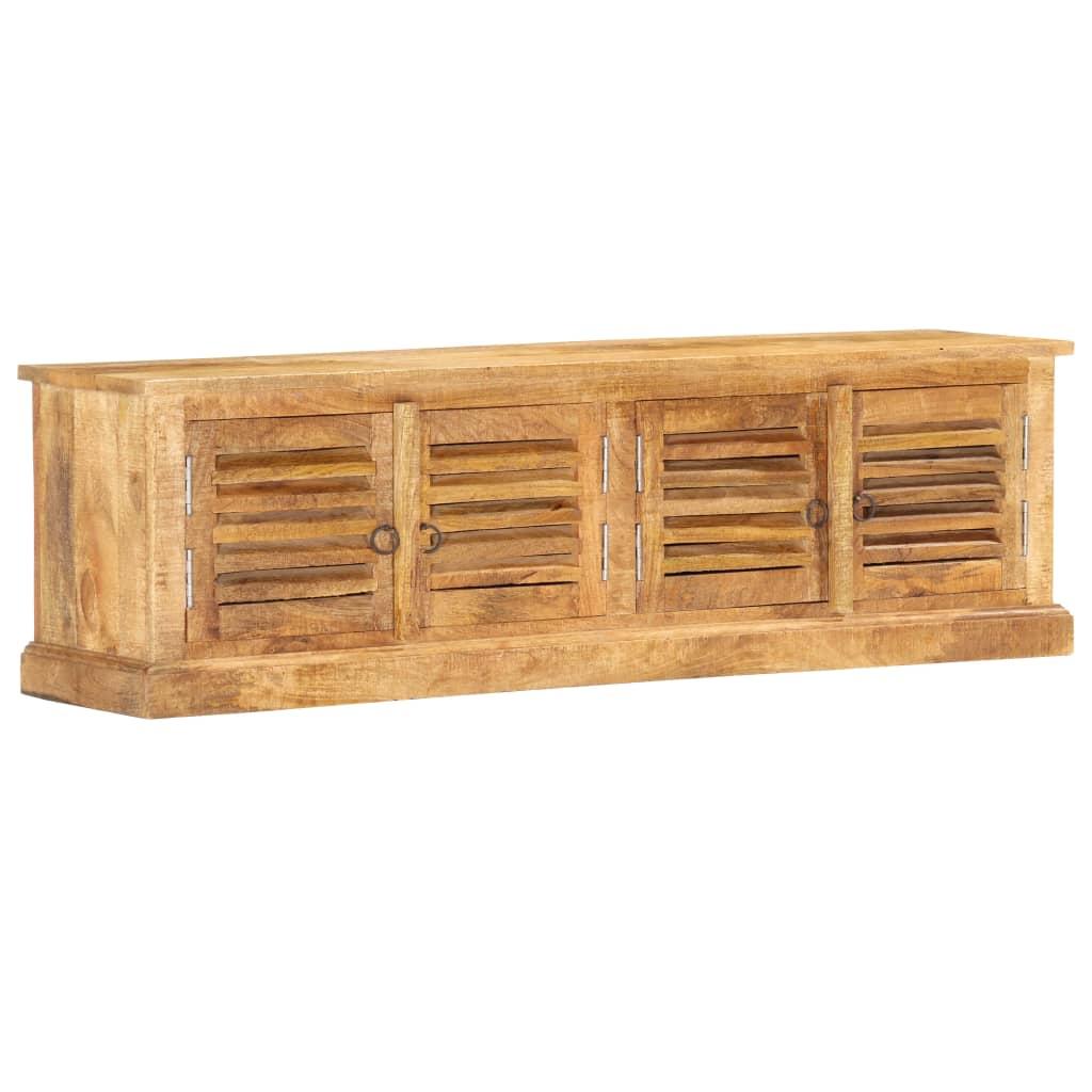 Solid Mango Wood Storage Bench 128cm