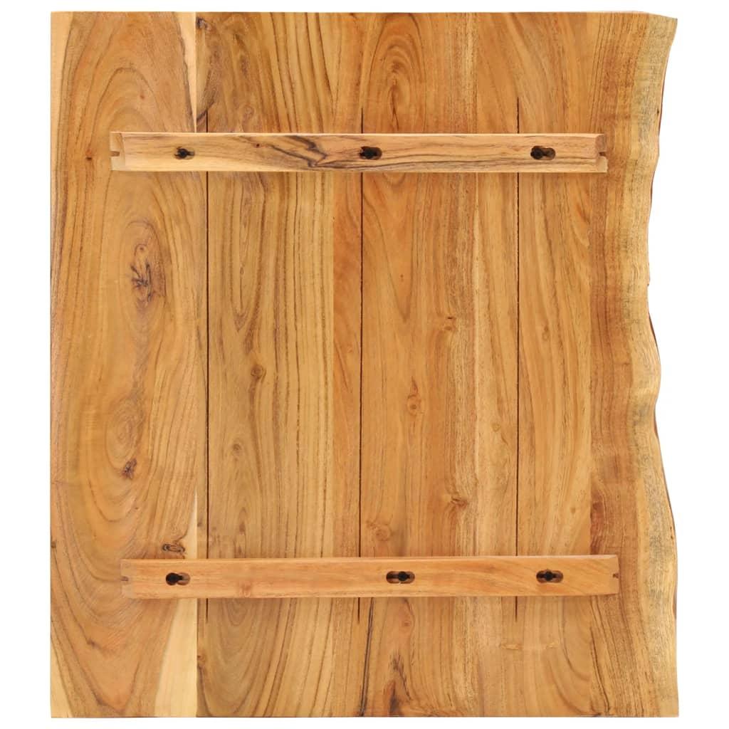 vidaXL Legno Massello di Acacia Piano per Lavabo Bagno Ripiano per Lavello Rustico Mensola per Lavandino Accessori per Bagno 120x55x3,8 cm