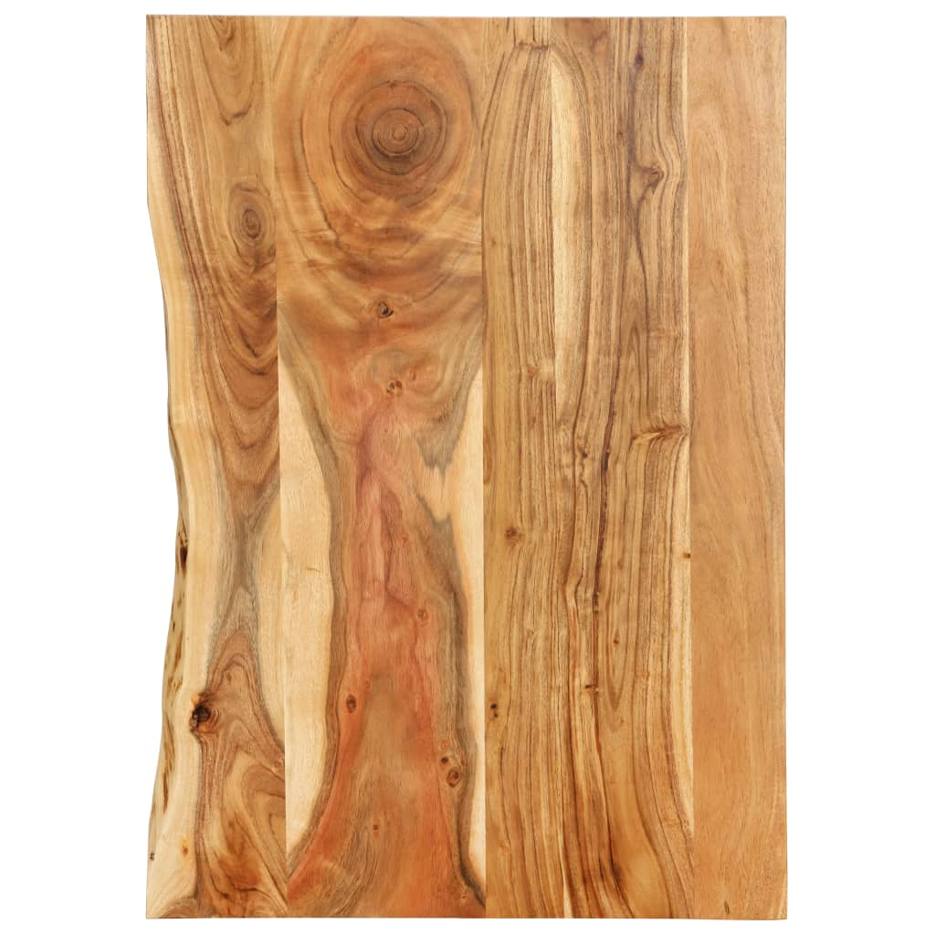 vidaXL Blat lavoar de baie, 80 x 55 x 2,5 cm, lemn masiv de acacia poza vidaxl.ro