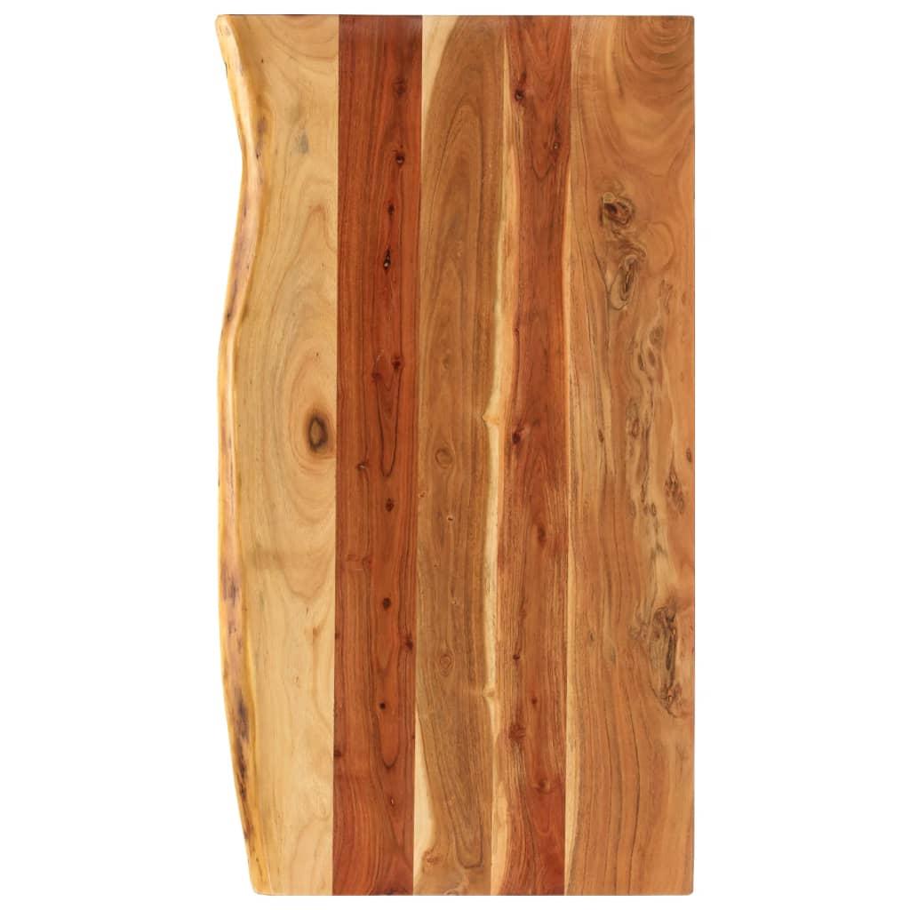 vidaXL Blat lavoar de baie, 100 x 55 x 3,8 cm, lemn masiv de acacia poza 2021 vidaXL