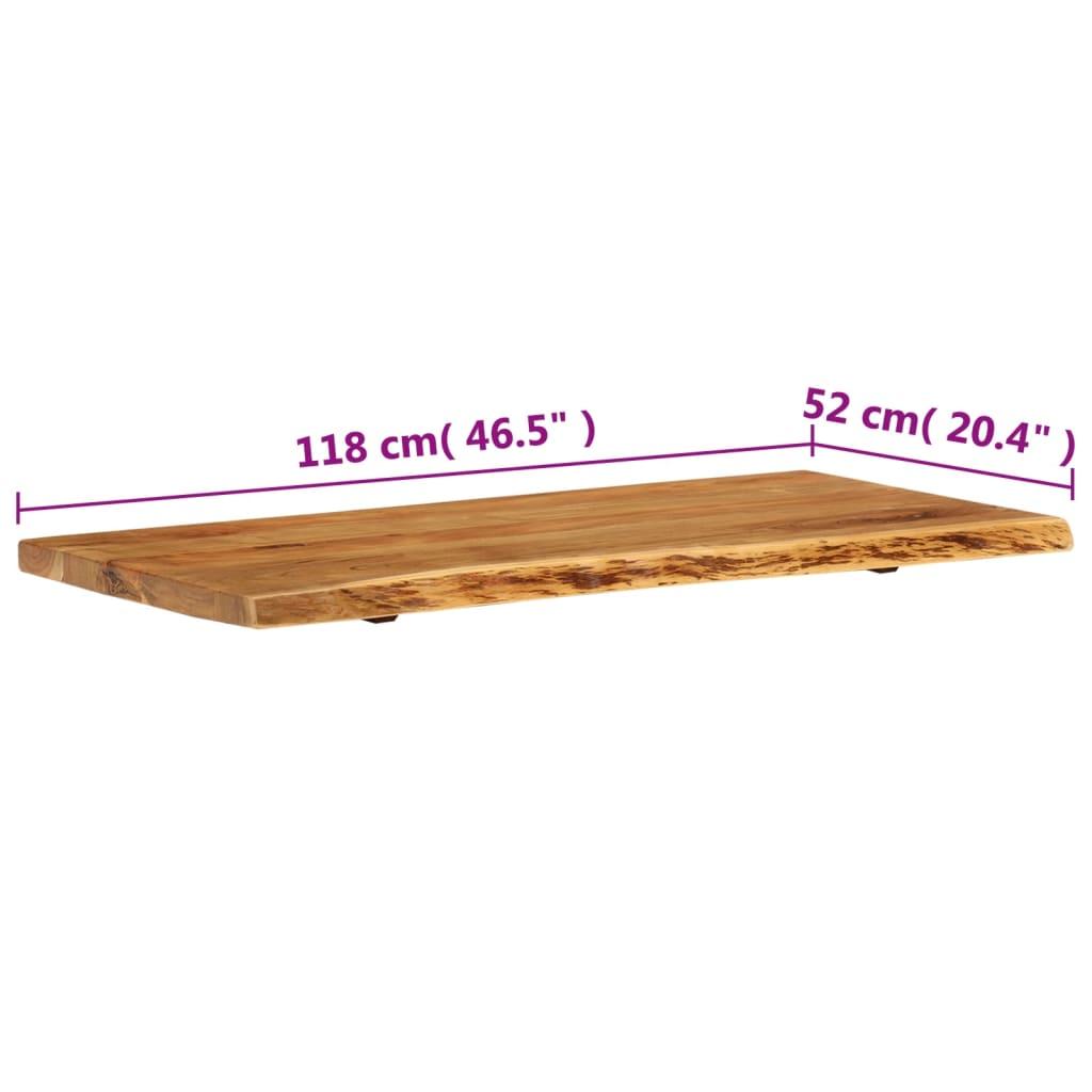 vidaXL Vrh za kupaonski ormarić od bagremovog drva 120 x 55 x 3,8 cm