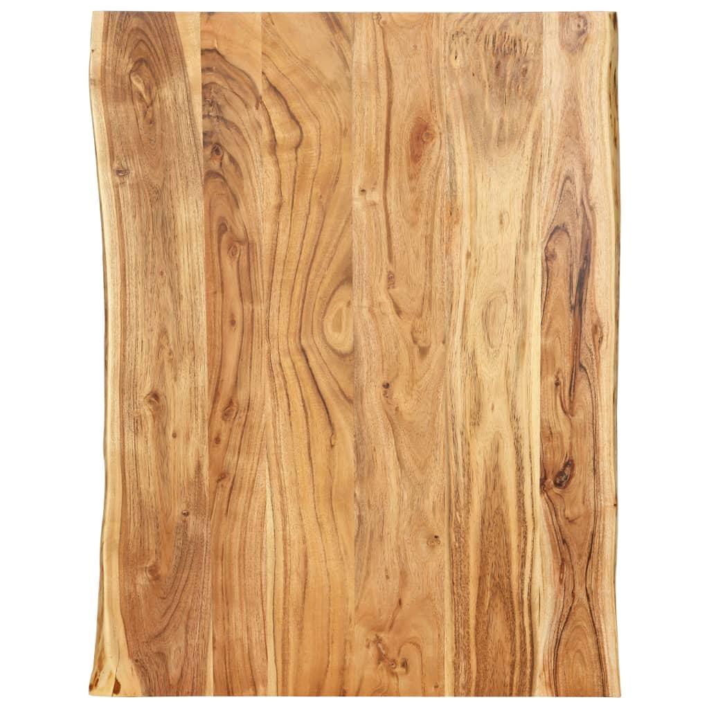 vidaXL Blat de masă, 80x60x2,5 cm, lemn masiv de acacia poza 2021 vidaXL