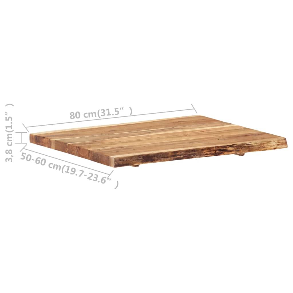 vidaXL Tafelblad 80x(50-60)x3,8 cm massief acaciahout