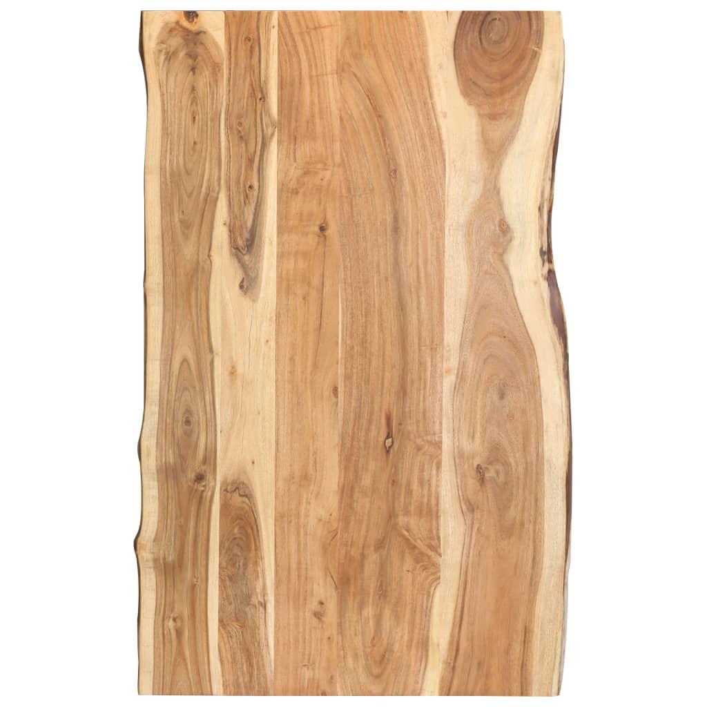 Stolní deska masivní akáciové dřevo 100 x 60 x 3,8 cm