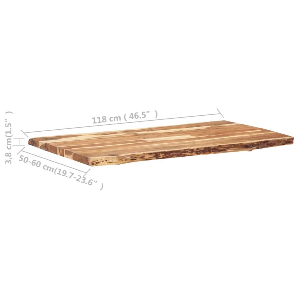 vidaXL Tafelblad 120x(50-60)x3,8 cm massief acaciahout