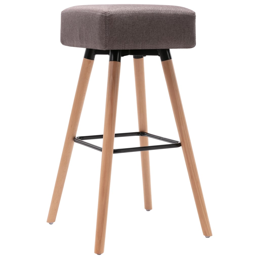 Barová židle taupe textil