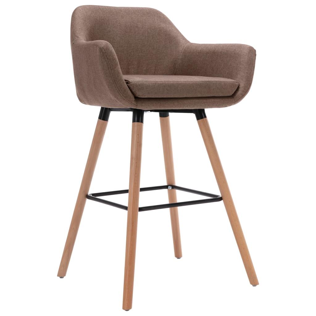 vidaXL Chaise de bar avec accoudoir Taupe Tissu