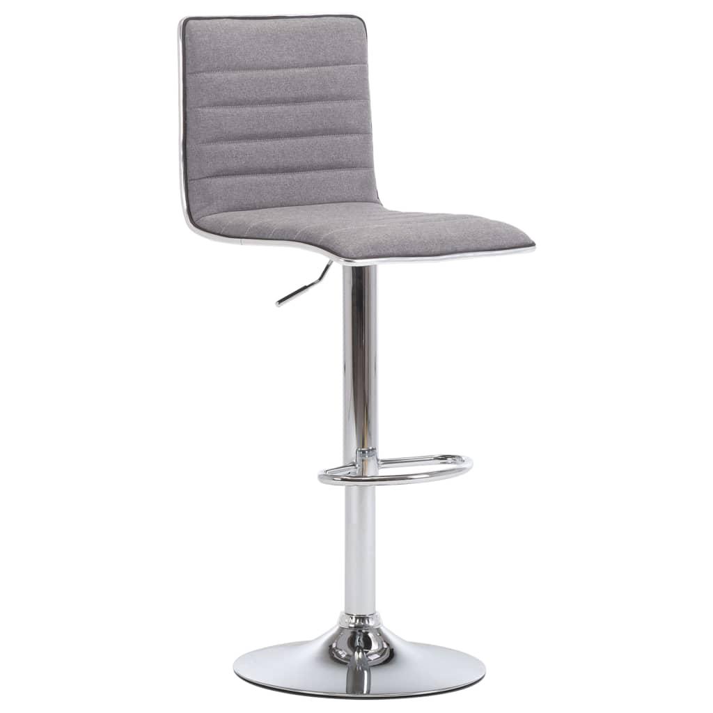 Barová židle světle šedá textil
