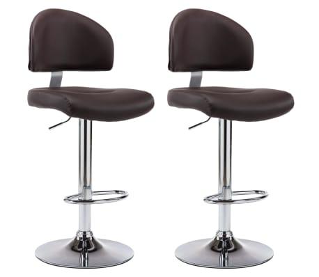 vidaXL Barové stoličky 2 ks hnědé umělá kůže