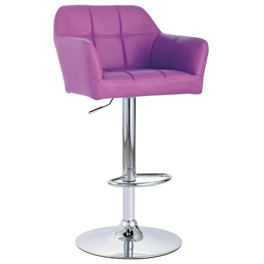 vidaXL Scaun de bar cu brațe, violet, piele ecologică poza vidaxl.ro