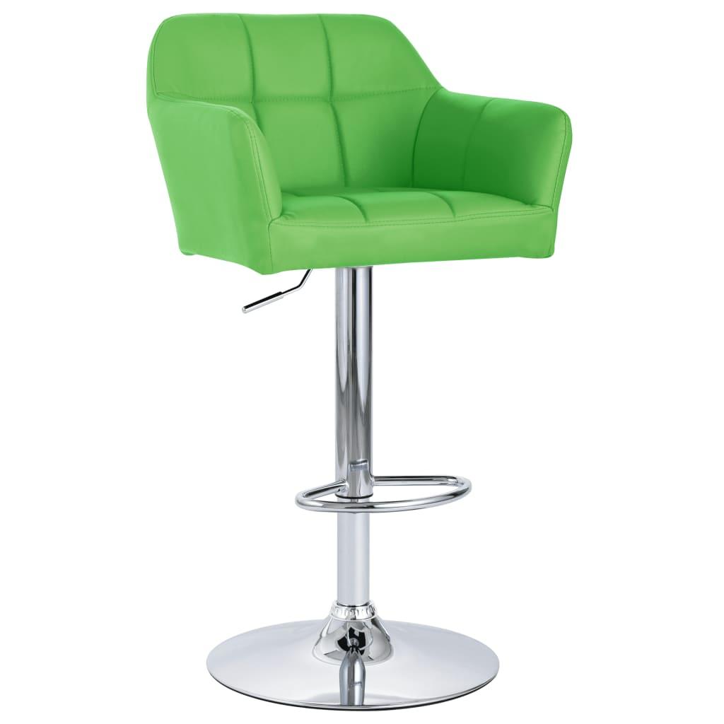 vidaXL Scaun de bar cu brațe, verde, piele ecologică vidaxl.ro