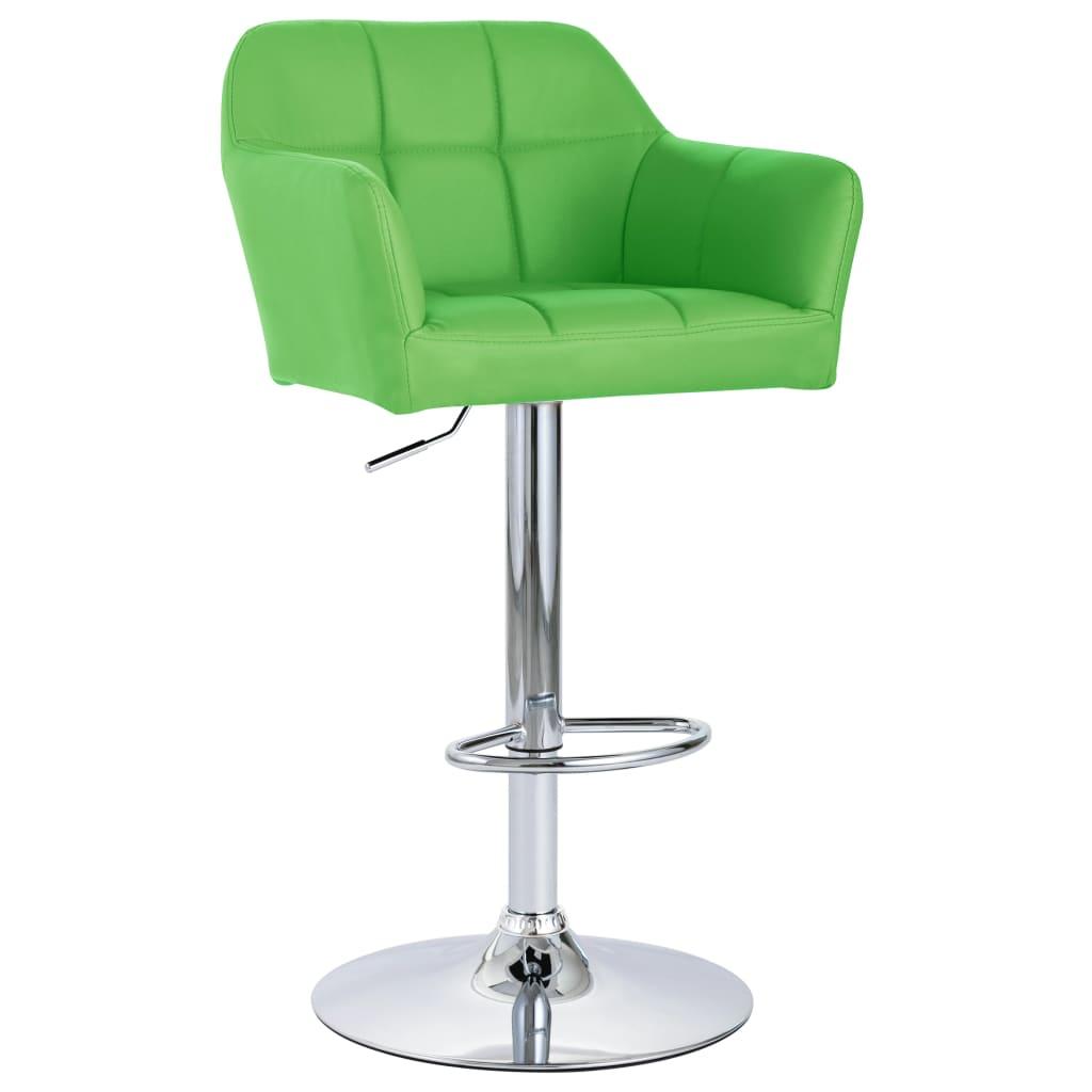 vidaXL Chaise de bar avec accoudoir Vert Similicuir