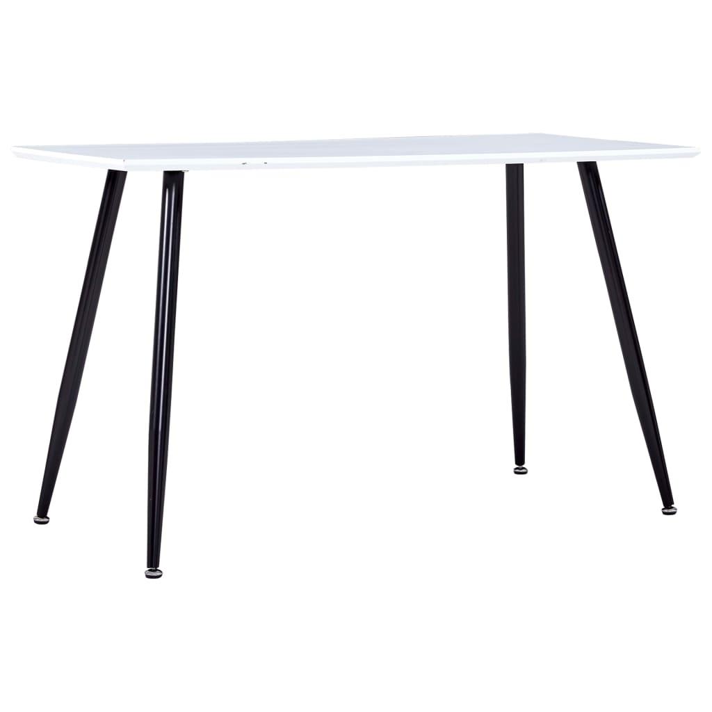 vidaXL Jídelní stůl bíločerný 120 x 60 x 74 cm MDF