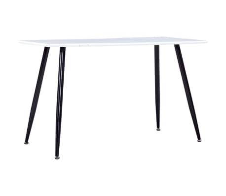 vidaXL Table de salle à manger Blanc et noir 120x60x74 cm MDF