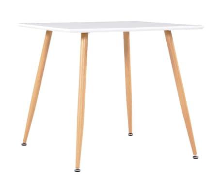 vidaXL Table de salle à manger Blanc et chêne 80,5x80,5x73 cm MDF