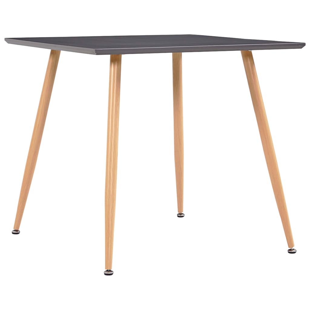 Jídelní stůl šedý a dubový 80,5 x 80,5 x 73 cm MDF
