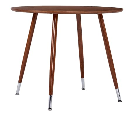 vidaXL Table de salle à manger Marron 90x73,5 cm MDF