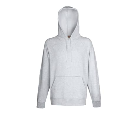 Fruit of the Loom	Hoodie herr 5 st grå strl. XXL