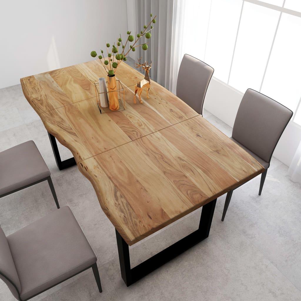 vidaXL Masă de bucătărie, 180 x 90 x 76 cm, lemn masiv de acacia imagine vidaxl.ro