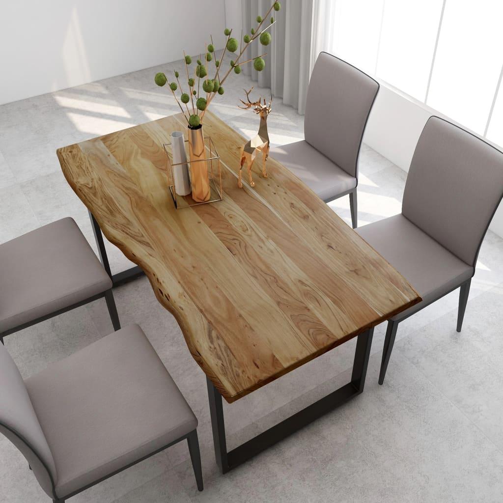 vidaXL Masă de bucătărie, 160 x 80 x 76 cm, lemn masiv de acacia vidaxl.ro
