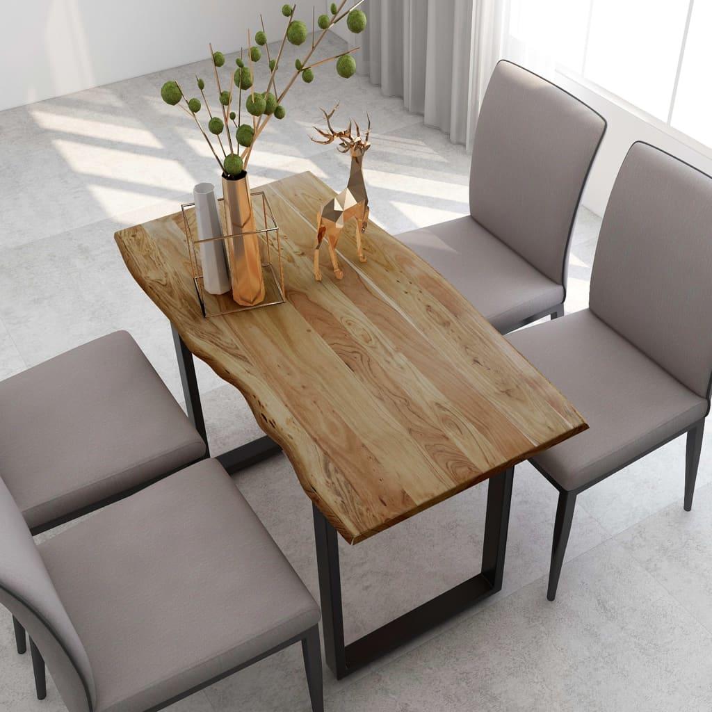 vidaXL Masă de bucătărie, 118 x 58 x 76 cm, lemn masiv de acacia poza 2021 vidaXL