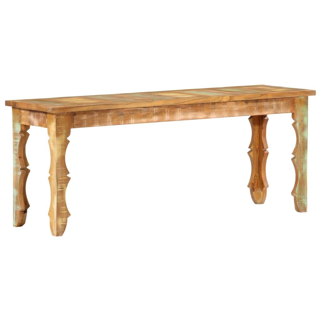 vidaXL Lavice 110 x 35 x 45 cm masivní recyklované dřevo
