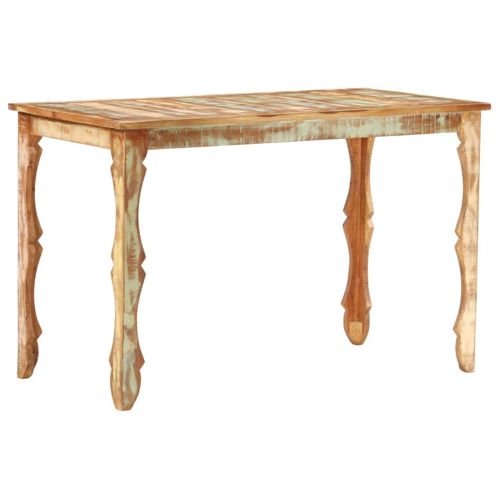 vidaXL Blagovaonski stol od masivnog obnovljenog drva 120 x 60 x 76 cm