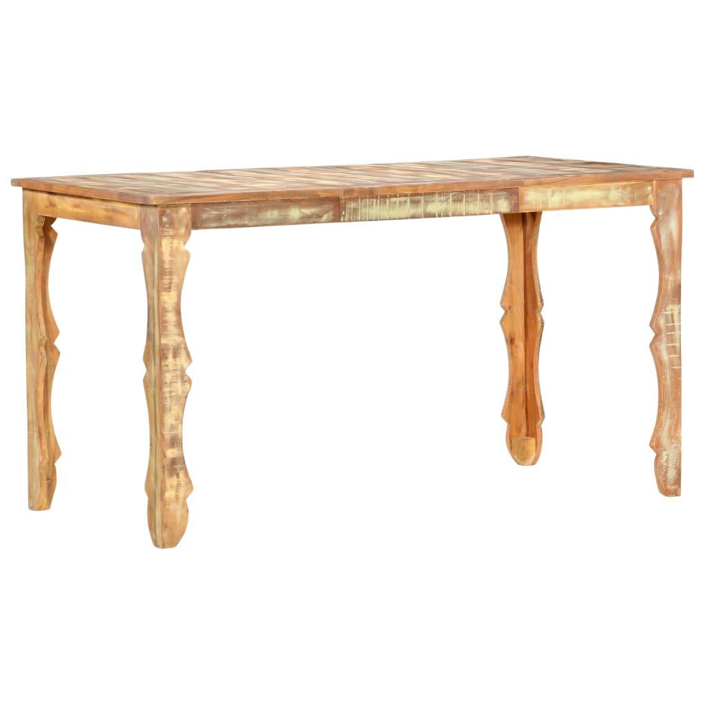 vidaXL Blagovaonski stol od masivnog obnovljenog drva 140 x 70 x 76 cm