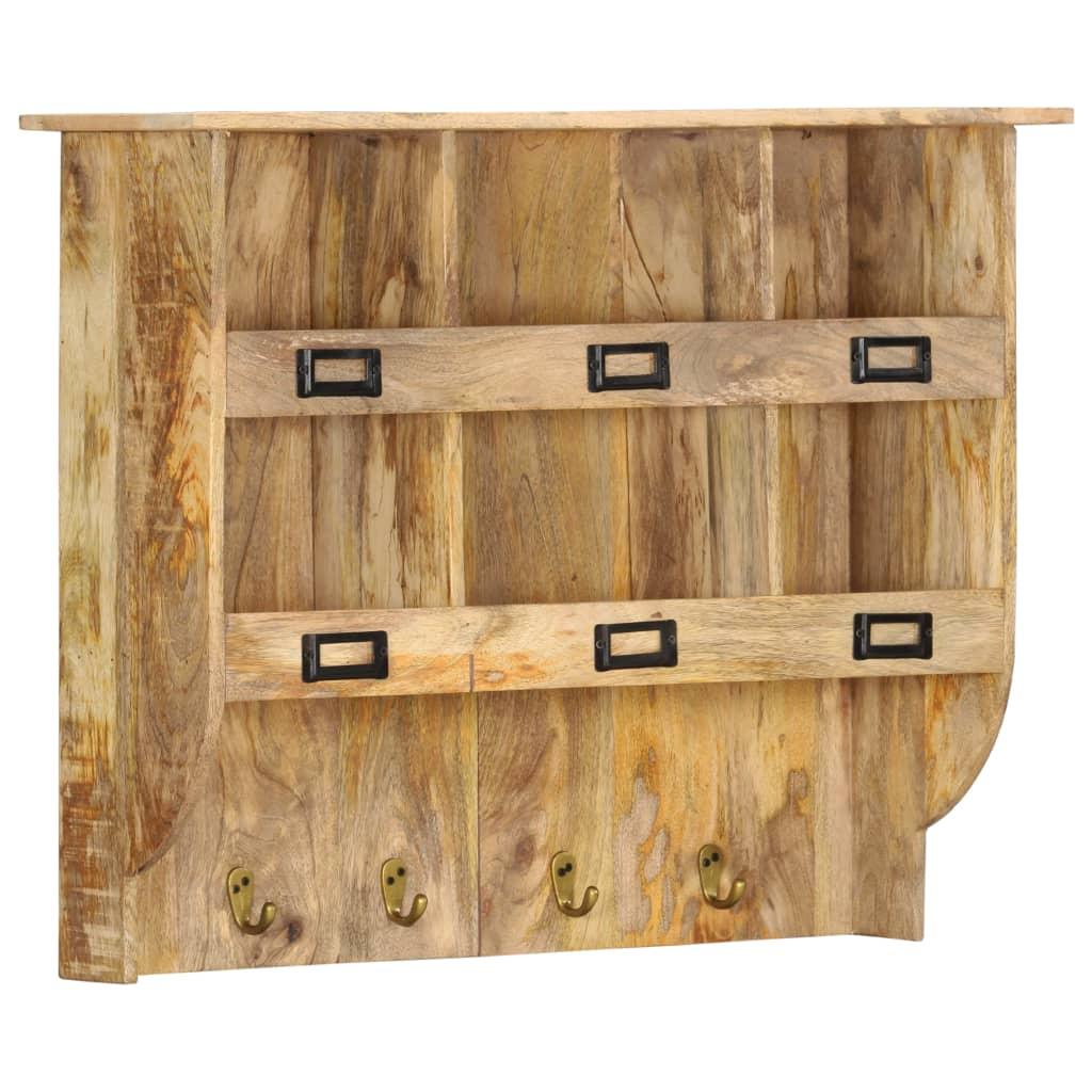 Nástěnný věšák 70 x 20 x 55 cm masivní mangovníkové dřevo