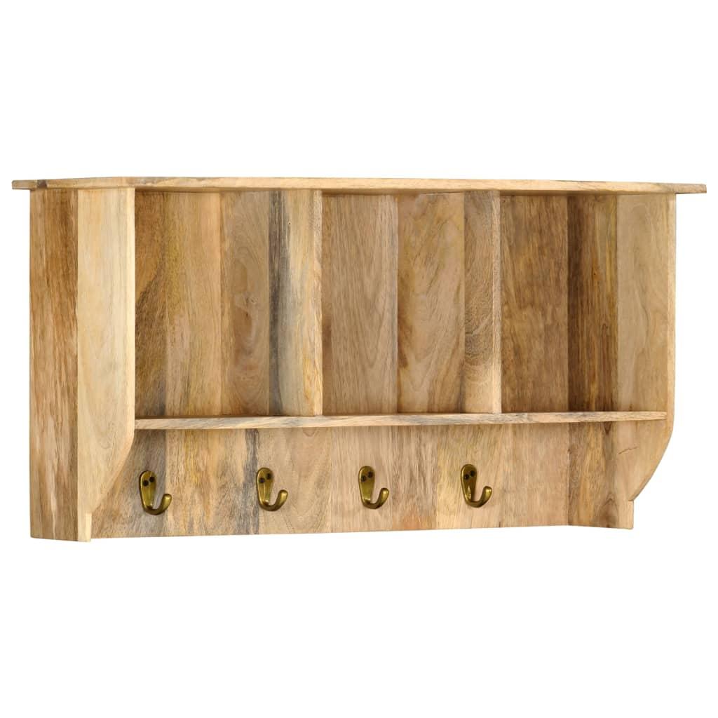 Nástěnný věšák 70 x 20 x 36 cm masivní mangovníkové dřevo