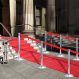 vidaXL Stanchion with Belt Airport Barrier Stainless Steel Silver